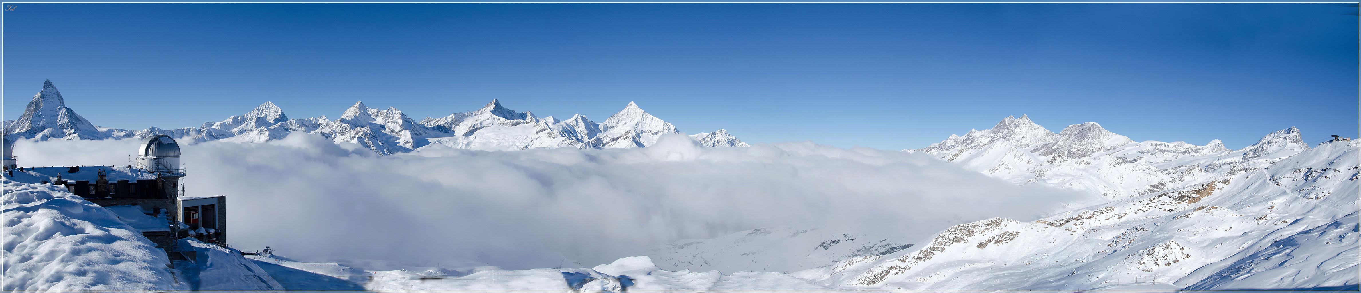 Панорама с Gornergrat